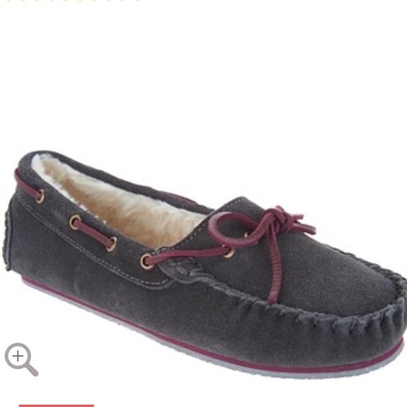 7ecb51c4ecff5f Clarks Suede Women s Moccasin Slippers in Grey